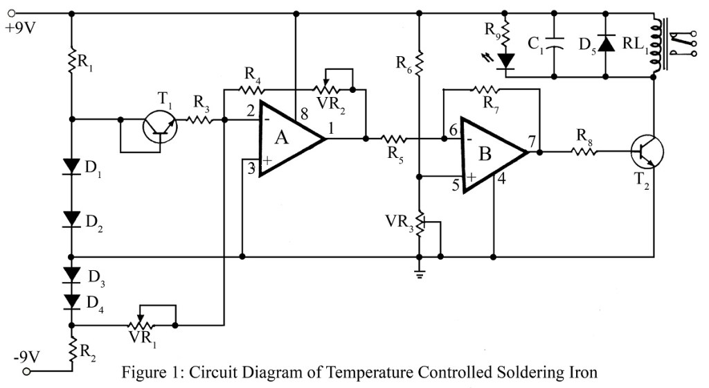 circuit diagram of temperature controlled soldering iron station