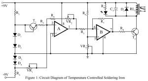 circuit diagram of temperature controlled soldering iron station