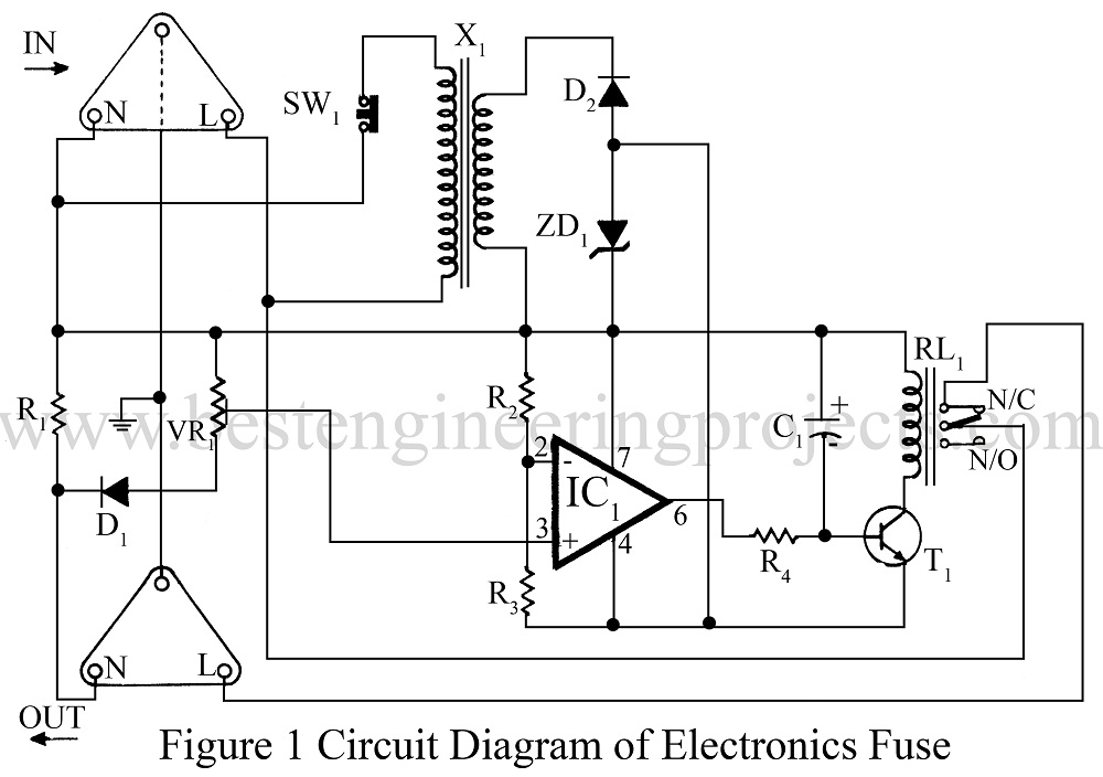 circuit diagram of electronics fuse