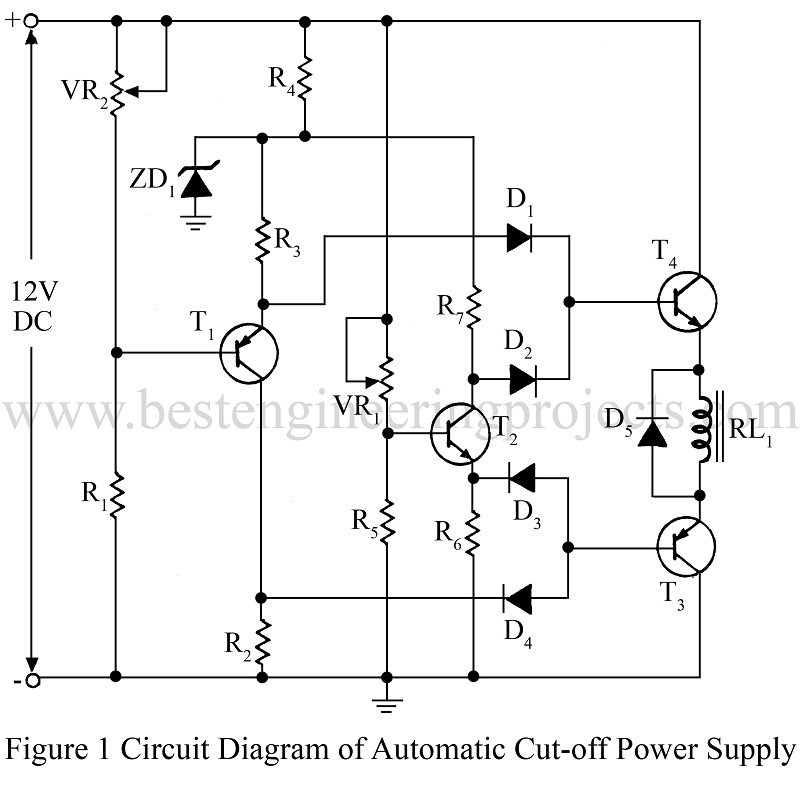Circuit Diagram Of Automatic Cut Off Power Supply on Low Voltage Battery Cut Off Circuit Diagram