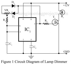circit diagrm of dome lamp dimmer