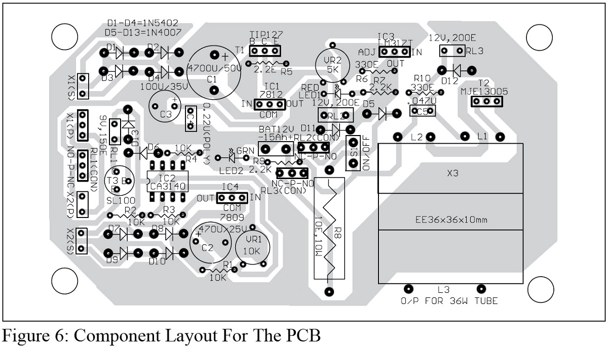 component layout for the pcb
