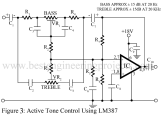 active tone control using LM387