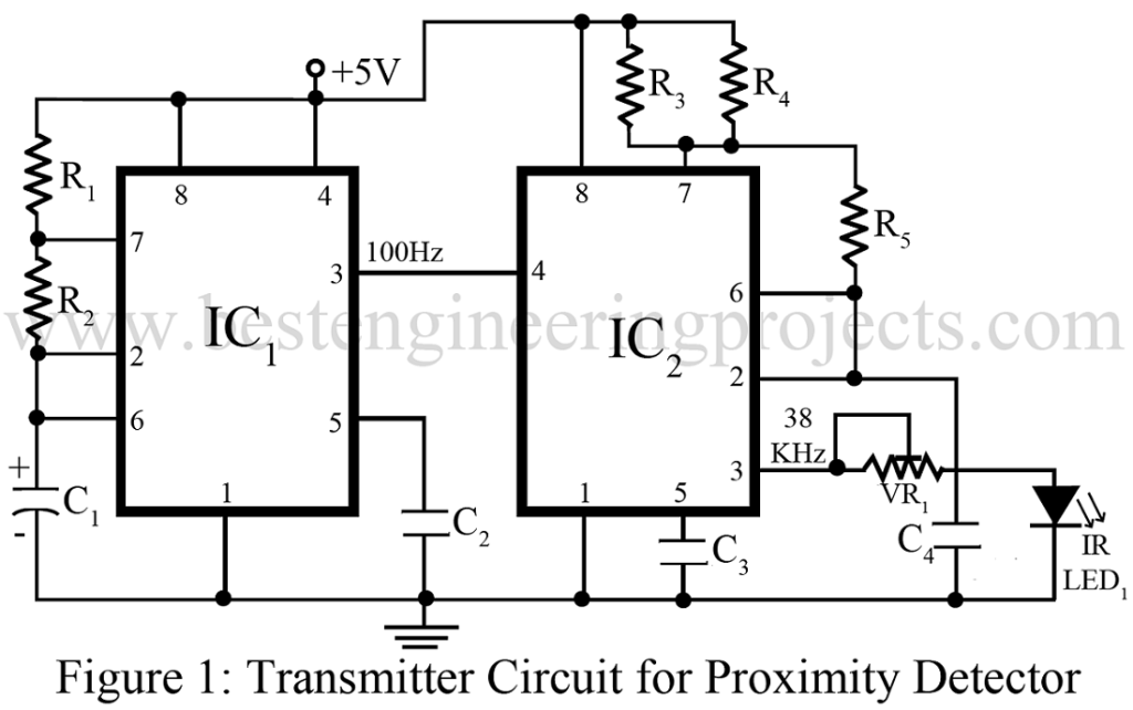 transmitter circuit for proximity detector