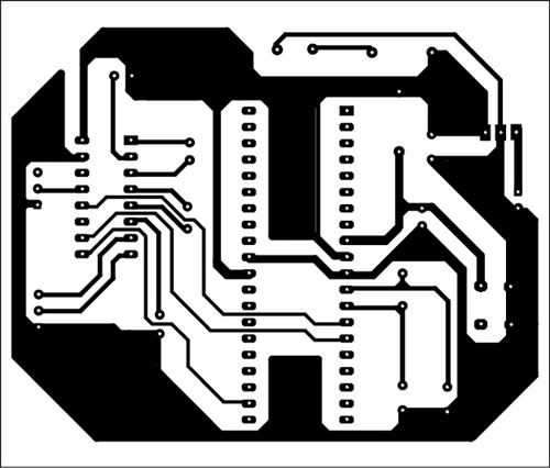 solder side of PCB of gps and GSM based vehicle tracking system