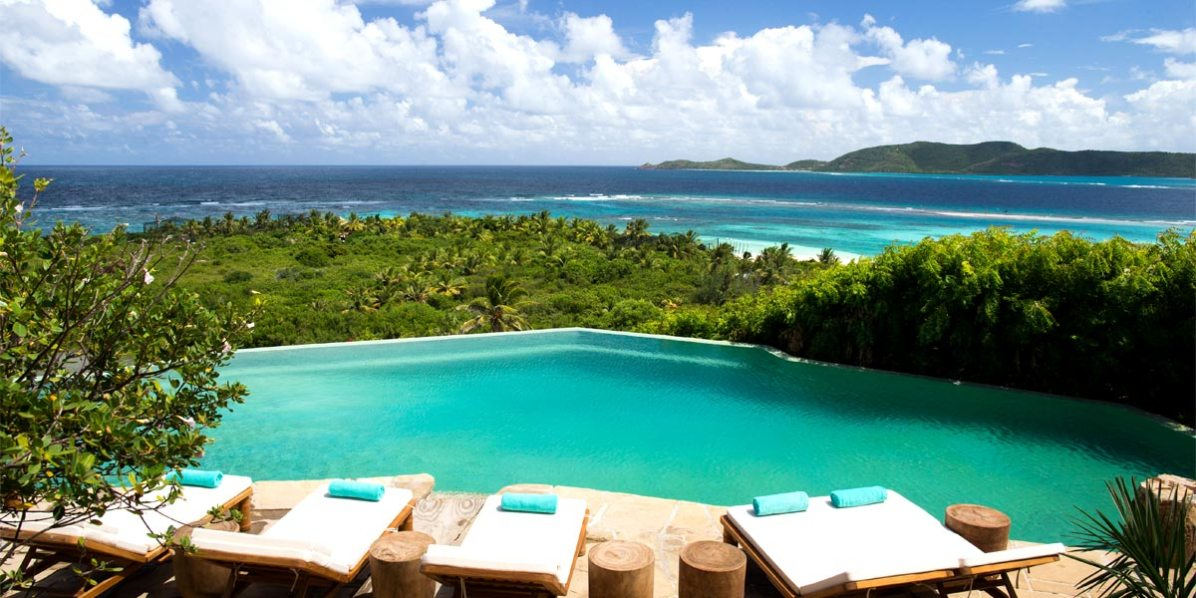 Poolside Roof Terrace, Necker Island, British Virgin Islands, Caribbean, Prestigious Venues