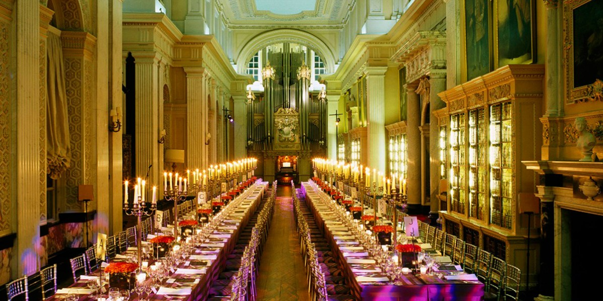 Long Library Gala Dinner Venue, Blenheim Palace, Prestigious Venues