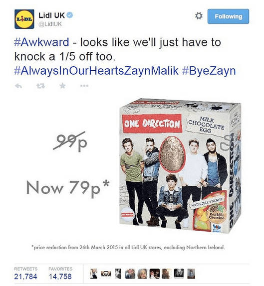 Lidl one direction banter