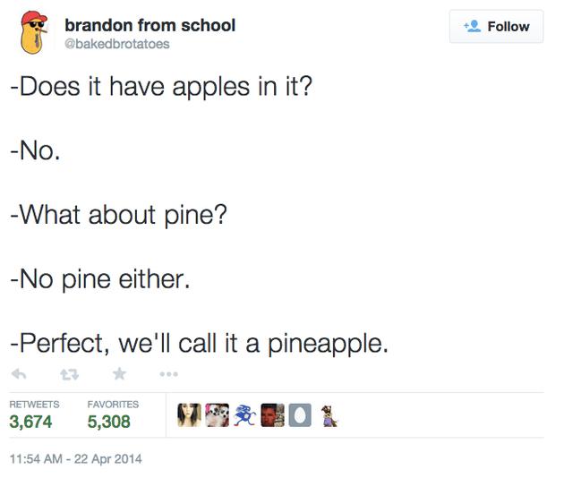naming a pineapple