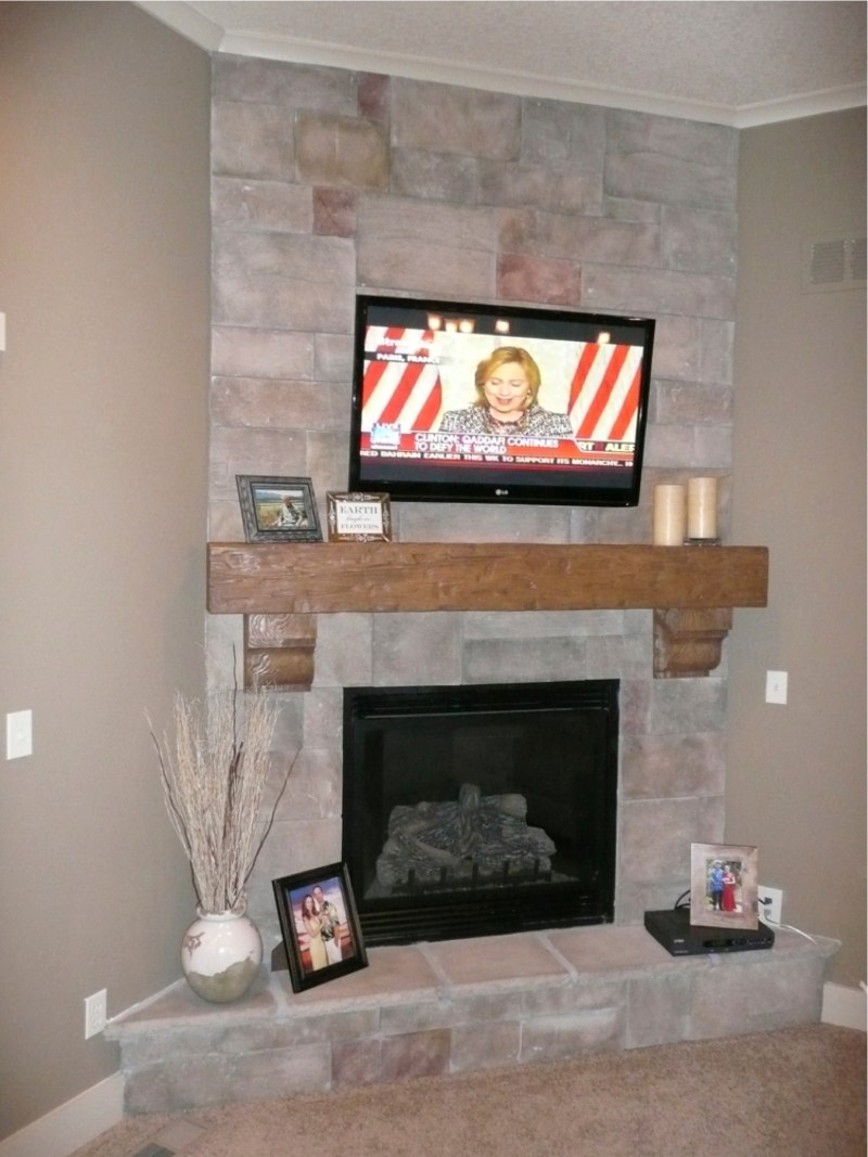 Large Of Faux Stone Fireplace