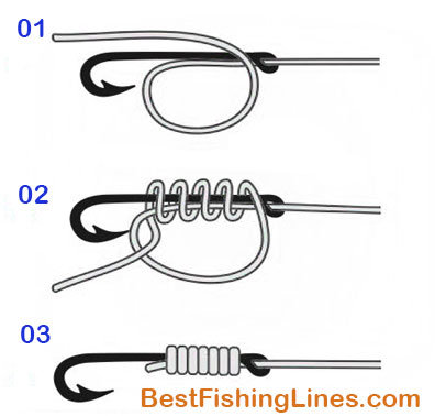 How to tie fishing hook to a line 6 different ways for Best fishing hook knot