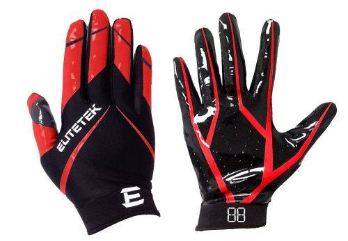 EliteTek RG-14 Football Gloves Youth and Adult