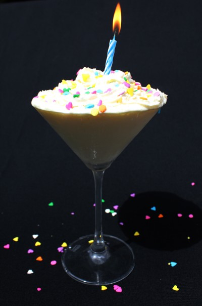 This Birthday Martini is as good as Birthday Cake in a glass!