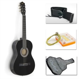 Black Acoustic Guitar Starter Packag
