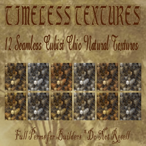 12 Seamless Cubist Chic Natural Timeless Textures