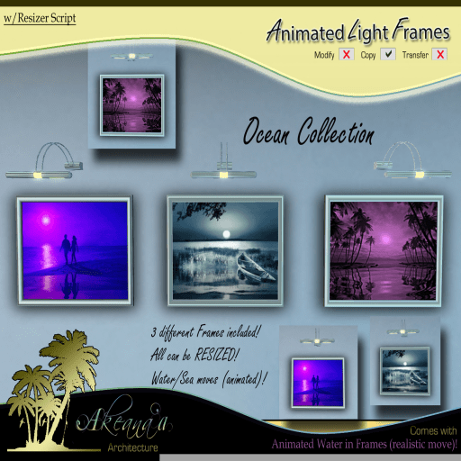 _AA_ Animated Light Frames (Ocean Collection) IMAGE (Ad)