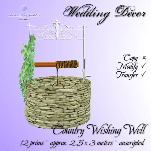 Country Wishing Well - 12 prims - unscripted