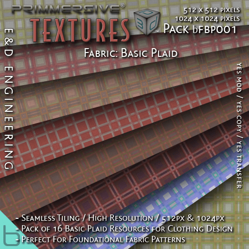 E&D ENGINEERING_ basics - Fabric Basic Plaid bFBP001_