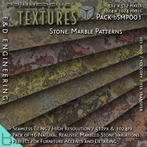 E&D ENGINEERING_ basics - Stone Marble Patterns bSMP001_