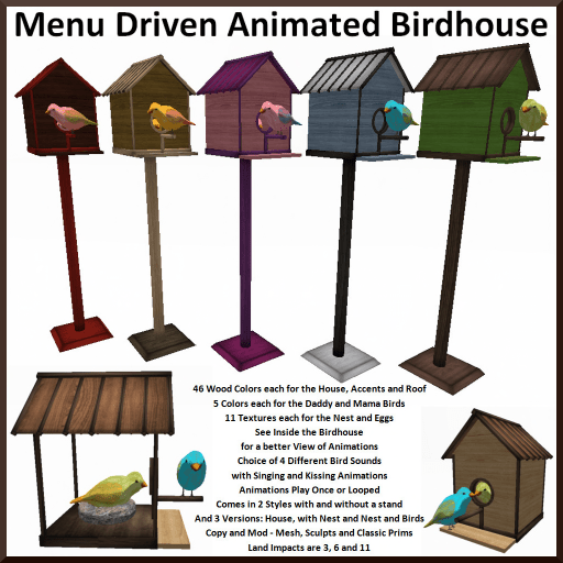 Menu Driven Bird House