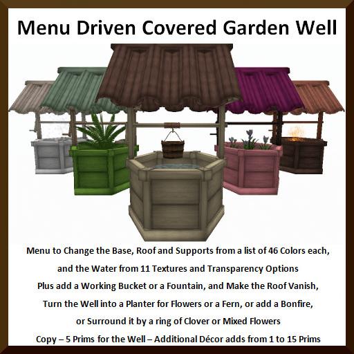 Menu Driven Covered Garden Well