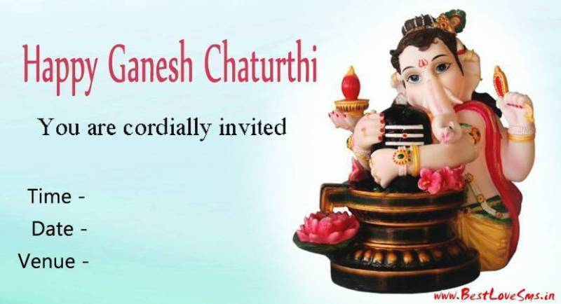 Invitation for ganesh chaturthi invitationswedd best lord ganpati invitation message 2017 with cards for fiends family stopboris Images