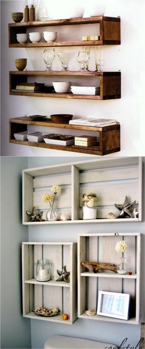 Medium Of Hanging Shelves Ideas