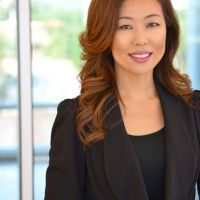 Attractive Asian Attorney Female Smiling Portrait Headshot by Brett Photography