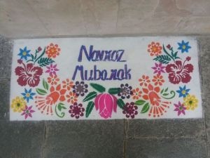 Chalk used to celebrate Parsi New Year