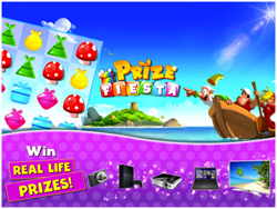 "Fun & Addictive New ""Prize Fiesta"" is a First Match 3 Game to…"