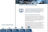The Changing Role of ERP in Modern Demand-Driven Manufacturing