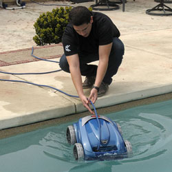 swimming pool services robotic pool cleaner