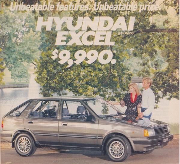 Hyundai Excel Australia 1986