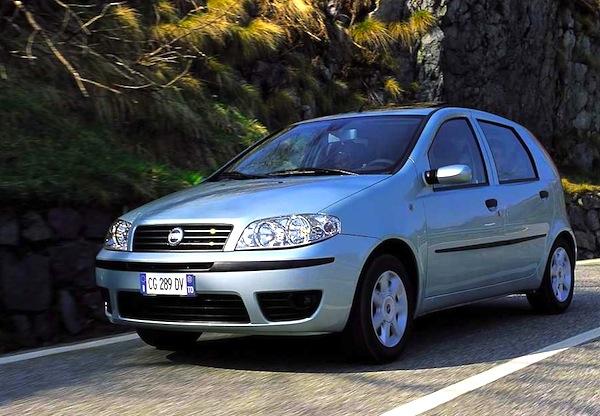 Fiat Punto Classic Serbia February 2013