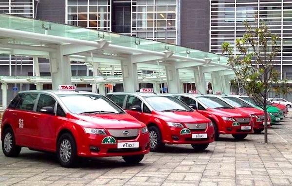 BYD e6 Taxi Hong Kong May 2013