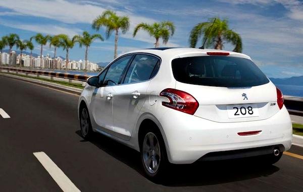 Peugeot 208 Brazil April 2013