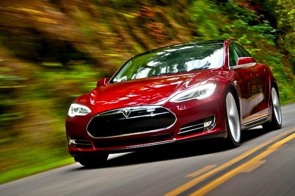 Tesla Model S California March 2013