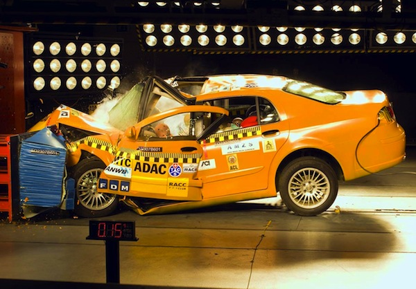Brilliance BS6 Crash Test 2007. Picture courtesy of autozeitung.de