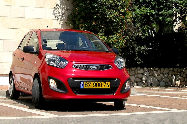 Kia Picanto Israel June 2014. Picture courtesy of carsforum.co.il