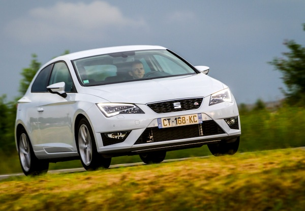 Seat Leon Croatia July 2015. Picture courtesy of largus.fr
