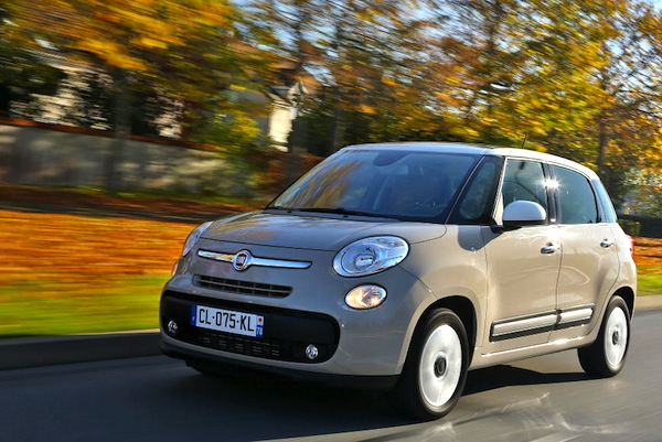 Fiat 500L Lithuania February 2014. Picture courtesy of largus.fr