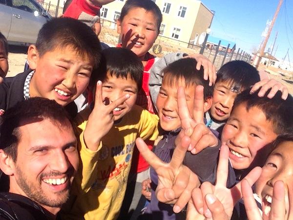 Cheering Mongolia style