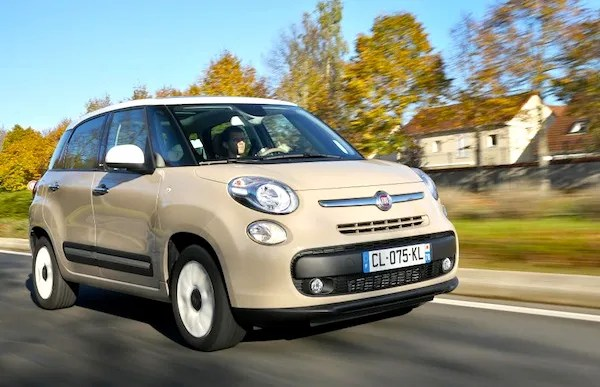 Fiat 500L Serbia July 2015. Picture courtesy of largus.fr