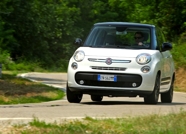 Fiat 500L Serbia August 2015. Picture courtesy of largus.fr