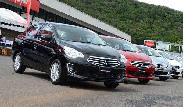 Mitsubishi Attrage Israel August 2014. Picture courtesy of wheel.co.il