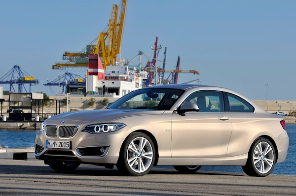 BMW 2 Series Lithuania March 2014. Picture courtesy of largus.fr