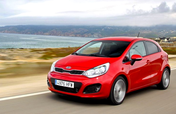 Kia Rio Cyprus March 2015. Picture courtesy of largus.fr