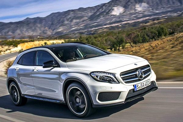Mercedes GLA Switzerland July 2015. Picture courtesy of autobild.de