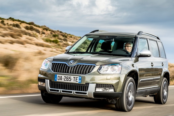 Skoda Yeti Latvia July 2015. Picture courtesy of largus.fr