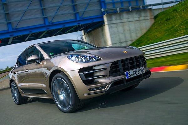 Porsche Macan Switzerland July 2014. Picture courtesy of autobild.de